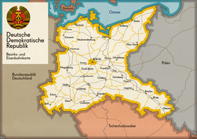 DDR (alternate) Bezirks- und Eisenbahnkarte by schreibstang