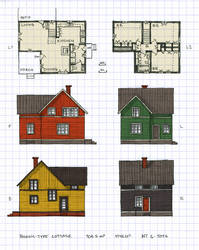 Nordic-type cottage by schreibstang