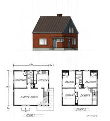 Hybrid house: Cape cod and Nordic cottage by schreibstang