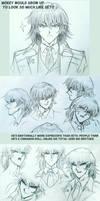Sketches of Mokuba :) by Ycajal