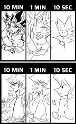 Fast Drawing Challenges XD by Ycajal