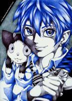 Ao no Exorcist Rin and Kuro by LaNaYoung