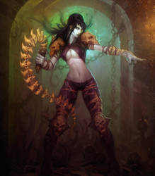 Lady of pain by Hamsterfly
