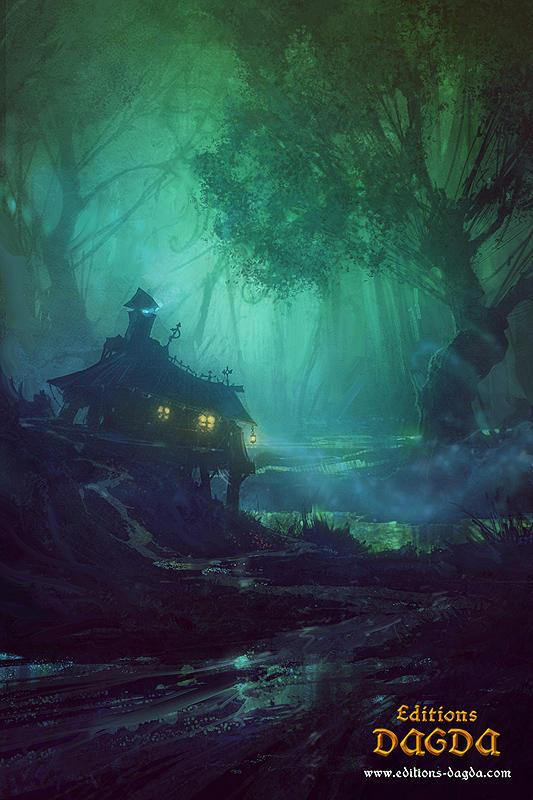 Morrigan 'black marshes' by Hamsterfly