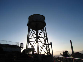 Alcatraz Water Tower by portwinters