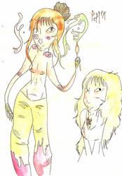 Une demoiselle au chignon poivre... by Ammyna