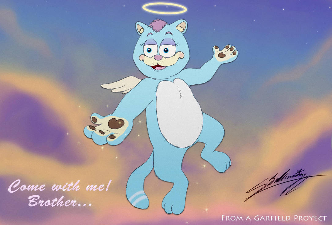 Angel calling to Garfield by SAGADreams