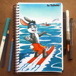 (AT) Racer Rabbit in Waterskiing! by SAGADreams