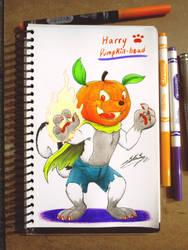 Harry Pumpkin-head Skunk! by SAGADreams