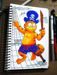 Pirate Garfield from Halloween by SAGADreams