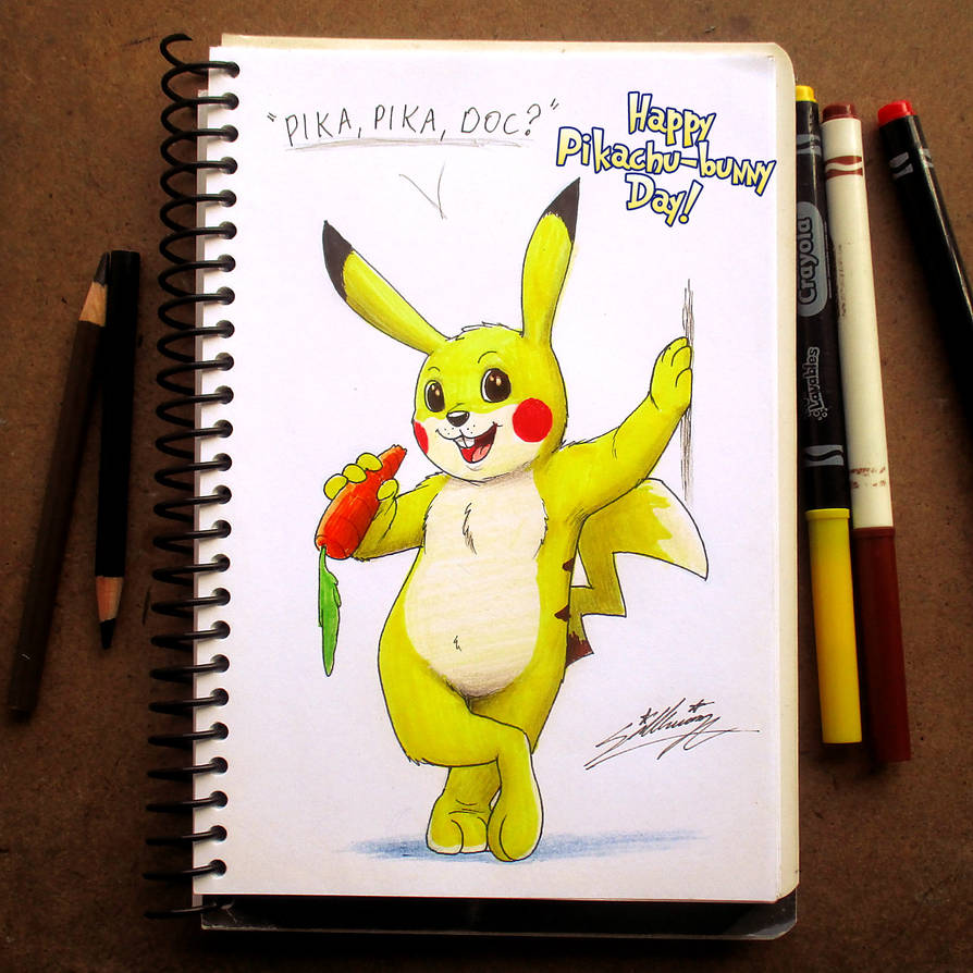 Happy Pikachu-bunny Day! by SAGADreams