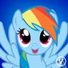 Rainbow Dash free avatar by InukoPuppy