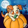 [Halloween Avatar Trade] Pumpkin the puppy by InukoPuppy