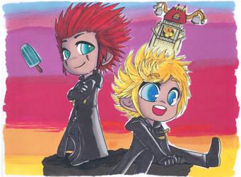 Cibi Roxas and Axel by Shingery