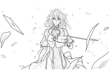 Violet Evergarden lineArt by Shingery