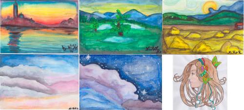 Watercolors by Shingery