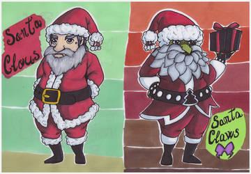 Santa Claus and Santa Claws by Shingery