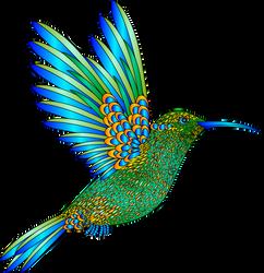 Colibri-aves-colores-degradados-32.1 by Creaciones-Jean