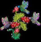 Aves-32-colores-degradados-filtros-inkscape by Creaciones-Jean