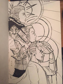 Lineage (sketchbook) by DannieKW