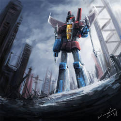 Starscream's destroy by Seventing