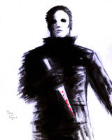 Michael Myers Halloween brush and paint by DougSQ