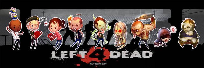 Left4DeadChibiStickers by ShyCustis