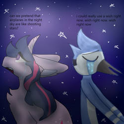 can we pretend that airplanes are shooting stars by furiouscatlover13