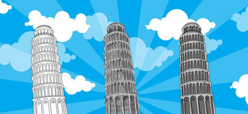 Leaning Tower of Pisa by Hexzen13