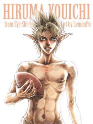 Hiruma Yoichi gets foodball by LemonPo