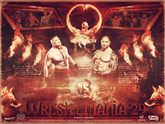 Batista vs Brock Lesnar ~ WM29 by MhMd-Batista