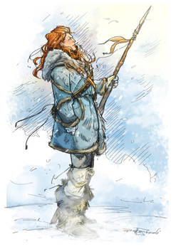 Ygritte Color - kissed by fire by Robbertopoli