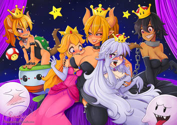 Bowsette and friends - Life is Peachy (Blonde) by Rosalhymn