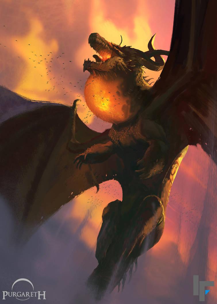 Rex'Ranaey, The First Dragon of Purgareth by 2wenty