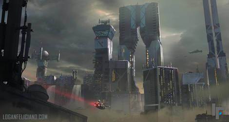 Futuristic Cityscape by 2wenty