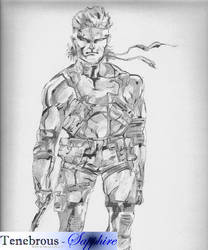 Solid Snake by Tenebrous-Sapphire