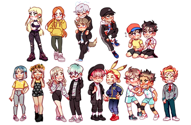 Chibi commissions finally done by ShizuYumee