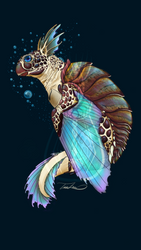 Iridescent Flying Turtle by MoodDragon