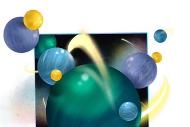 Space Marbles by MoodDragon