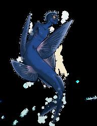 Flying fish Mermaid by MoodDragon