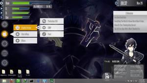 Skins Rainmeter Sword Art Online (Kirito) by kareyare