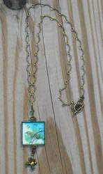 Little Green Bird necklace by GraceStudios