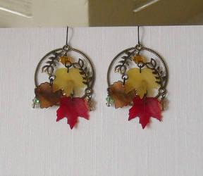 Autumn Earrings 2010 by GraceStudios