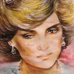 Princess Diana portrait by ViolArtist