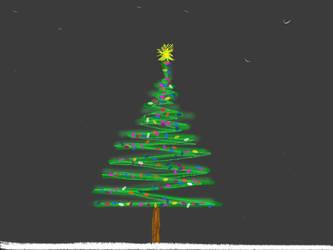 Scribbled Pine by joedimino