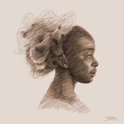 Woman sketch by TaliOne