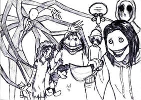 Creepypastas Family by RoryJackson