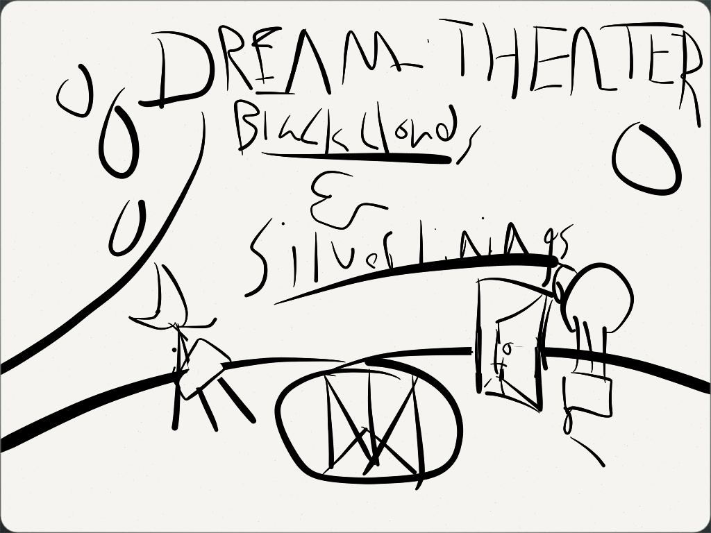 Dream Theater Black Clouds Silver Linings Sketch By Xarlev On