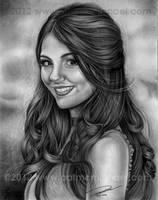 Victoria Justice Pencil portrait by pat-mcmichael