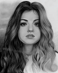 Lucy Hale in progress by pat-mcmichael